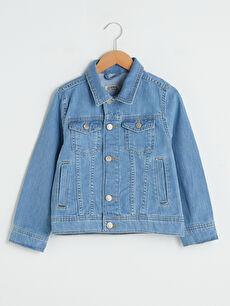 Gömlek Yaka Erkek Çocuk Jean Ceket