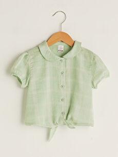 Baby Collar Short Sleeve Baby Girl Shirt