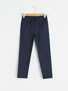 Beli lastikli Basic Super Slim Erkek Çocuk Gabardin Pantolon