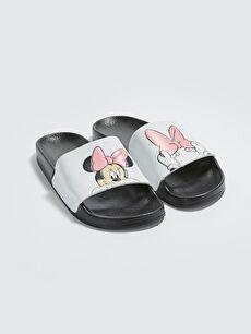 Minnie Mouse Lisanslı Tek Bantlı Kadın Terlik