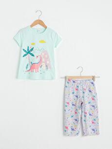Kız Çocuk Baskılı Pijama Takımı