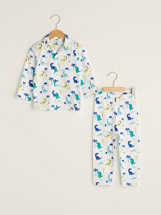 бял Комплект пижама