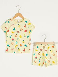 жълт Комплект пижама