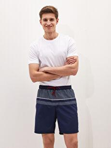 Knee-Length Boy Patterned Men's Swim Shorts