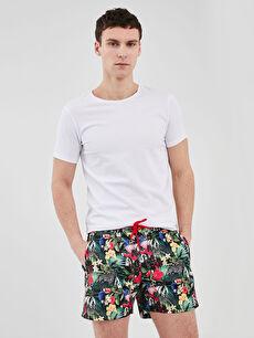 Short Pattern Men's Swimwear