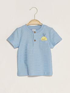 Crew Neck Short Sleeve Baby Boy T-Shirt