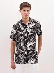 LCW CASUAL Regular Fit Kısa Kollu Desenli Erkek Gömlek
