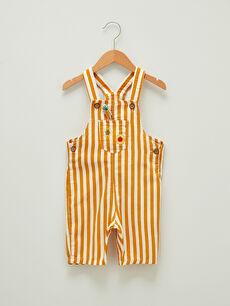 Striped Cotton Baby Boy Salopet