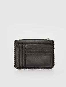 Women's Leather Look Card Holder Wallet
