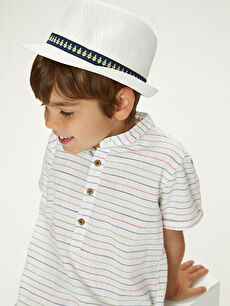 Boys' piping detailed hat