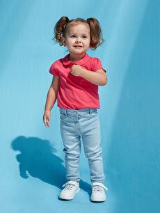 LCW GREEN Basic Kız Bebek Jean Pantolon