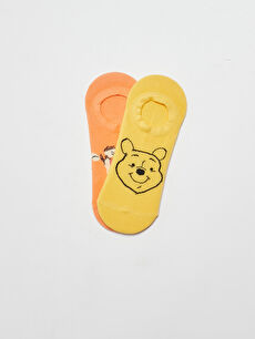 Winnie The Pooh Baskılı Kadın Patik Çorap 2'li