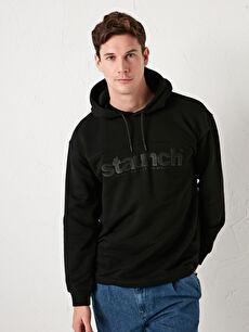 LCW CASUAL Kapüşonlu Uzun Kollu Baskılı Kalın Erkek Sweatshirt