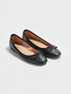 Kadın Fiyonk Detaylı Babet Ayakkabı