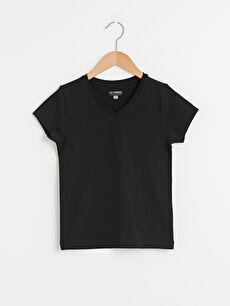 V Neck Basic Short Sleeve Boy Undershirt