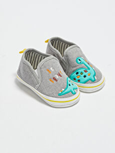 Baby Boy Embroidered Pre-Toddler House Shoes