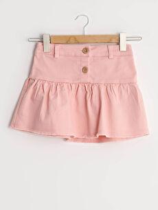 Basic Cotton Baby Girl Skirt