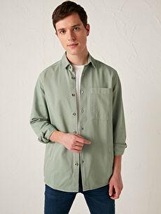 LCW CASUAL Regular Fit Long Sleeve Gabardine Men's Shirt Jacket