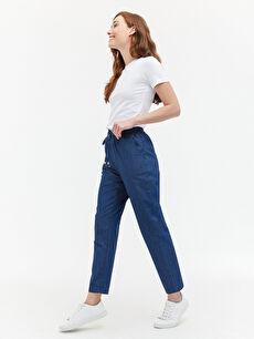 LCW BASIC Beli Lastikli Kadın Jean Pantolon