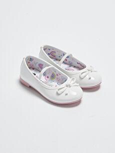 Fiyonk Detaylı Kız Bebek Babet Ayakkabı