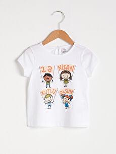 Kız Bebek 23 Nisan Baskılı Tişört