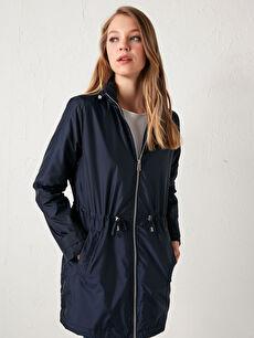 Hooded Zipper Raincoat