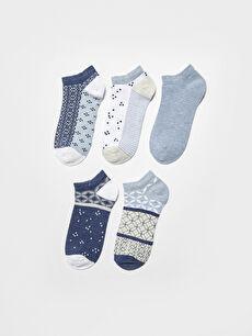 Desenli Kadın Patik Çorap 5'li