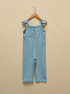 LCW GREEN Basic Organic Cotton Baby Girl Overalls With Straps