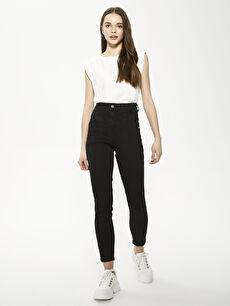 Yüksek Bel Slim Fit Kadın Jean Pantolon