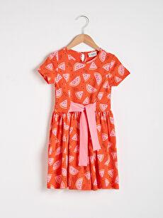 Girl's Printed Cotton Dress