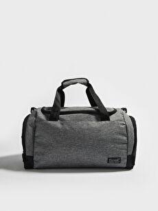 Label Printed Men's Sports Bag
