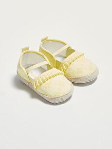 Kız Bebek Yürüme Öncesi Fırfırlı Ev Ayakkabısı