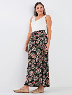 LCW GRACE Elastic Waist Floral Patterned Women's Skirt
