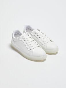 Şeffaf Tabanlı Bağcıklı Kadın Sneaker
