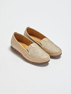Deri Görünümlü Kadın Klasik Ayakkabı