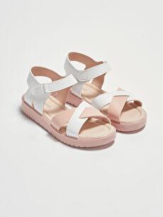 Çapraz Bantlı Kız Çocuk Sandalet