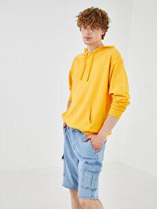 XSIDE Oversize Kapüşonlu Uzun Kollu Erkek Sweatshirt