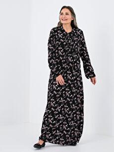 LCW GRACE Hakim Yaka Çiçekli Uzun Kollu A Kesim Kadın Elbise