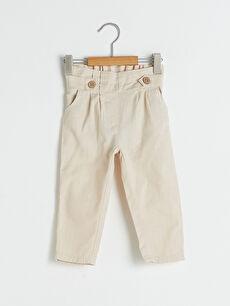 Beli Lastikli Basic Kız Bebek Pantolon