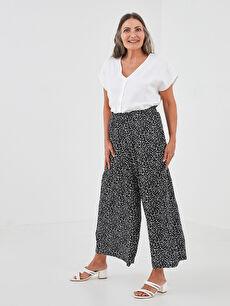 LCW GRACE Elastic Waist Patterned Belmando Fabric Women's Pants Skirt