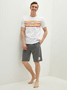 Мъжки комплект пижама с принт Galatasaray