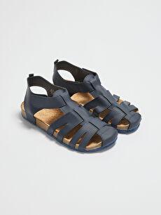 Çapraz Bantlı Cırt Cırtlı Erkek Çocuk Sandalet