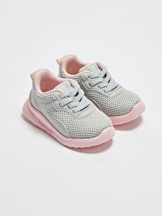 File Detaylı Bağcıklı Kız Bebek Spor Ayakkabı