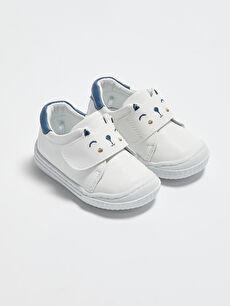 Cırt Cırtlı Erkek Bebek İçi Deri Astarlı İlk Adım Ayakkabısı