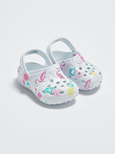 Baskılı Kız Bebek Sandalet