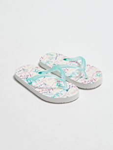 бял Плажни чехли