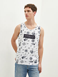 LCW CASUAL Crew Neck Printed Cotton Male Athlete