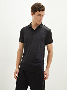 LCW SPORTS Polo Neck Short Sleeve Active Sports Men's T-Shirt