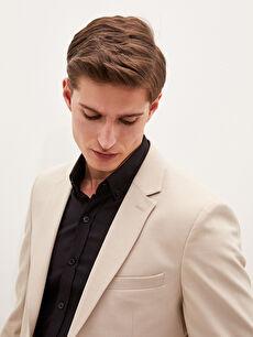 LCW CLASSIC LCW GREEN Slim Fit Textured Men's Blazer Jacket