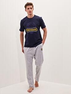 Standart Kalıp Fenerbahçe Baskılı Erkek Pijama Takımı